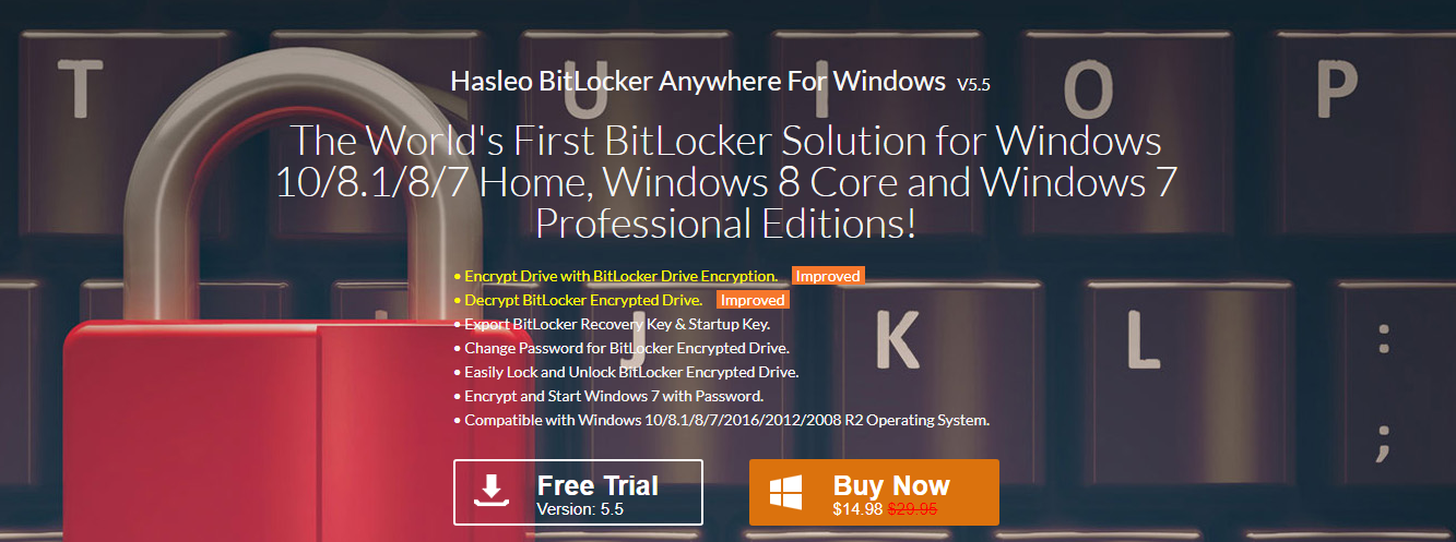 Hasleo BitLocker Anywhere - Apps for My PC